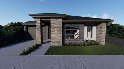 Single storey new home drafting design