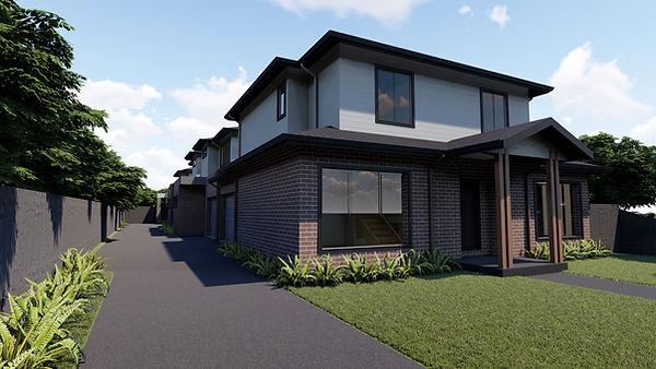 Townhouse multi Design Melbourne Town Planning permit