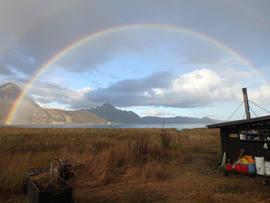 Full rainbow over main camp