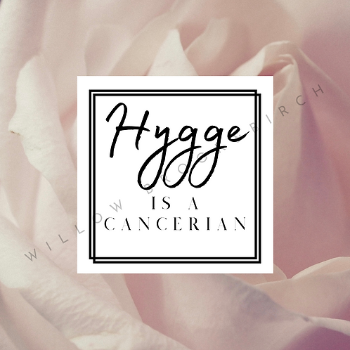 Digital Poster Wall/Desk Art Print (Hygge Cancerian-blush rose)