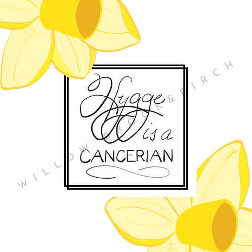 Digital Poster Wall/Desk Art Print (Hygge Cancerian-daffodil 2)