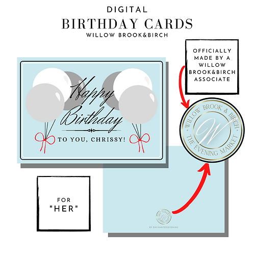 Digital Greeting Card (Happy Birthday-for her)
