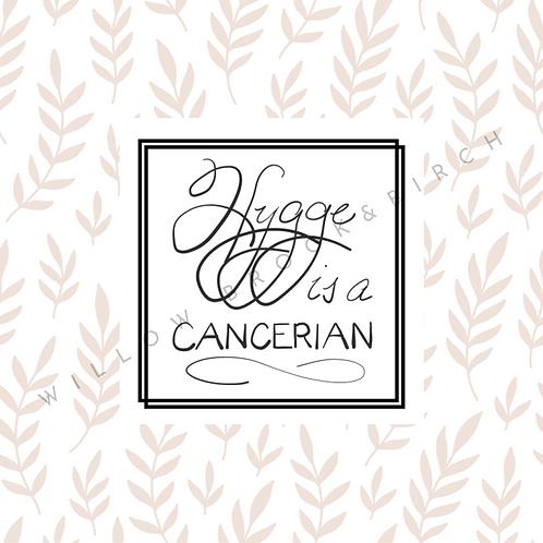 Digital Poster Wall/Desk Art Print (Hygge Cancerian-beige leaves)