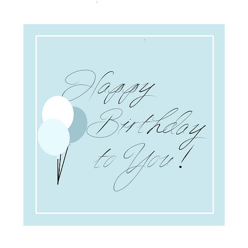 Willow Brook & Birch Happy Birthday Greeting Card (printed)