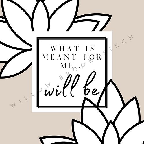 Digital Poster Wall/Desk Art Print (Will Be-lotus)