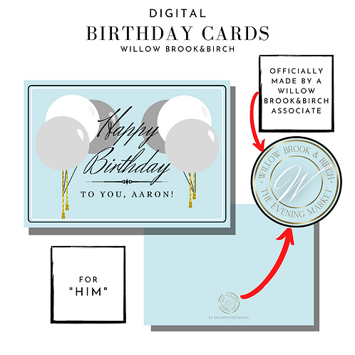 Digital Greeting Card (Happy Birthday-for him)