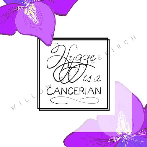 Digital Poster Wall/Desk Art Print (Hygge Cancerian-violet)