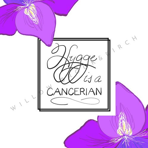 Digital Poster Wall/Desk Art Print (Hygge Cancerian-violet 2)