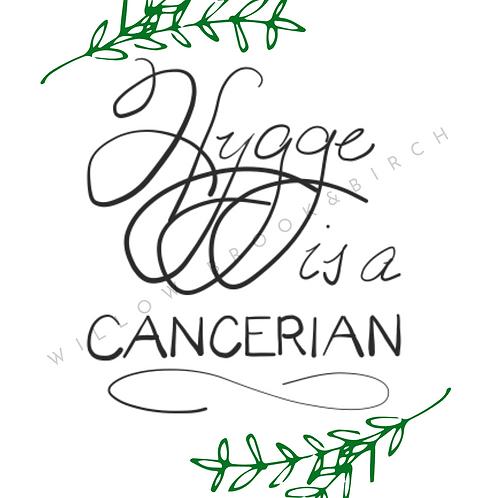 Digital Poster Wall/Desk Art Print (Hygge Cancerian-branch)