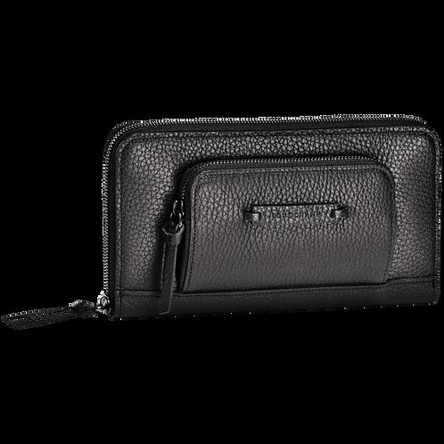 Longchamp - Madeleine portefeuille zippé noir