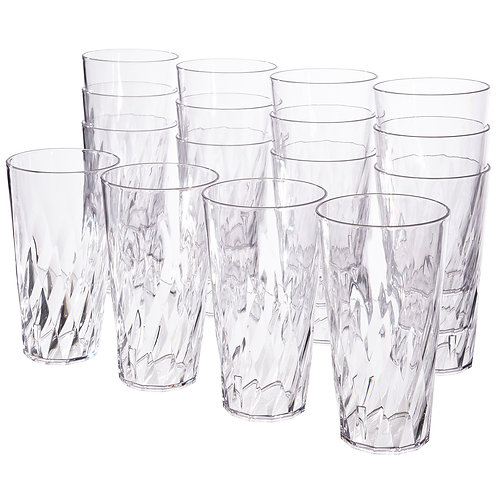 Palmetto 20-ounce Tumblers | set of 16 Clear