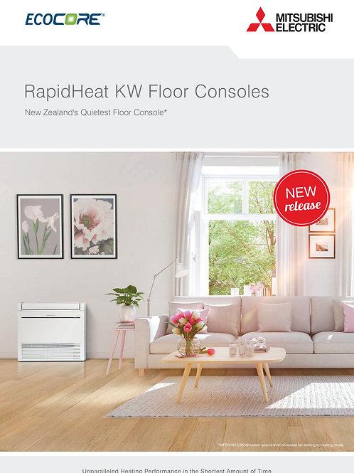 Mitsubishi Electric KW Series Floor mounted Heatpumps