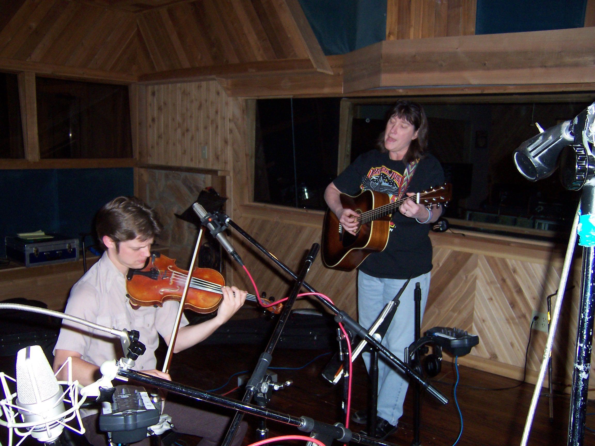 Judy & Warren in the studio