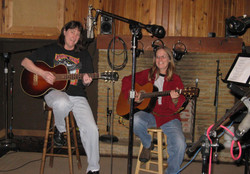 Judy and Rose in studio