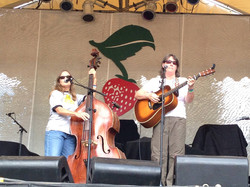 Judy & Rose on the Strawberry stage