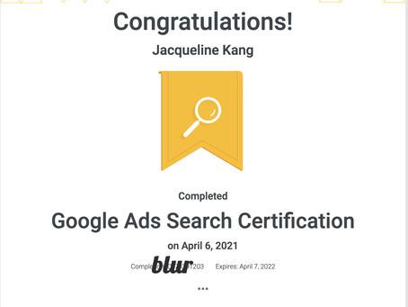 I did it! Google Ads 2021 cert