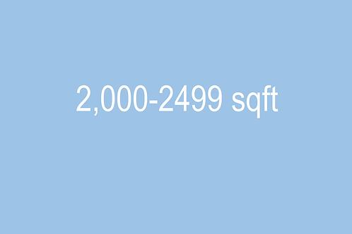 2000 - 2499 sqft