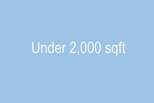 Under 2000 sqft