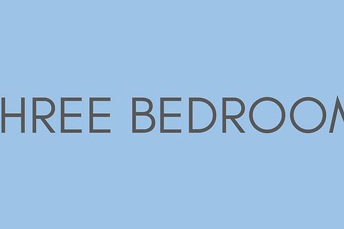 Three Bedroom Starting Rate: