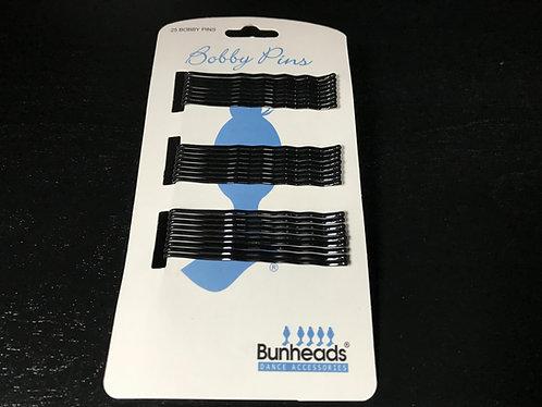 BH449 Black Bobby Pins