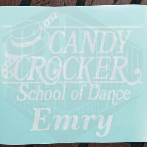 Candy Crocker Window Decal with Name