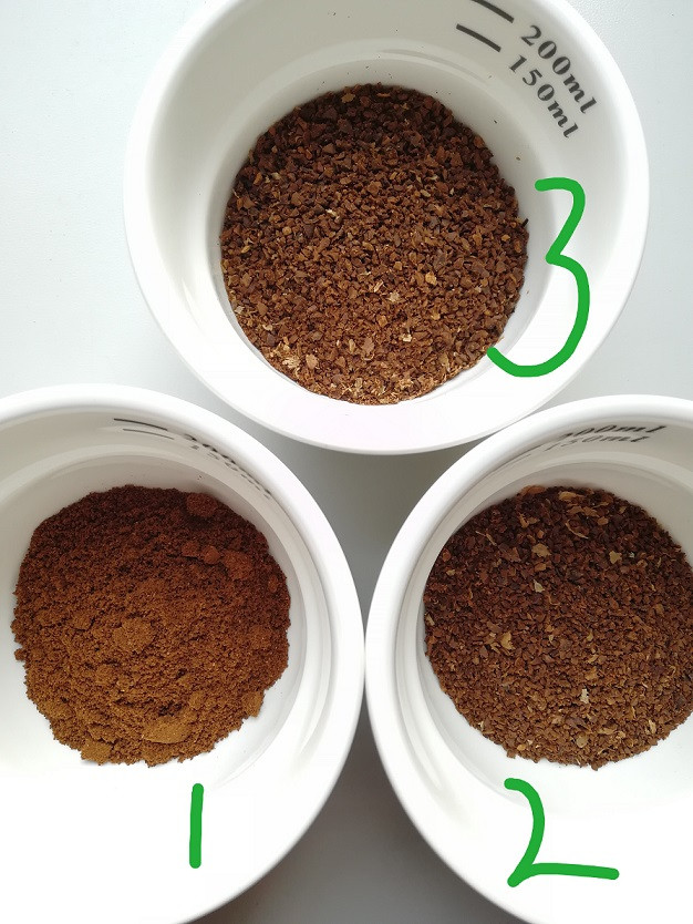 Ground coffee for cupping