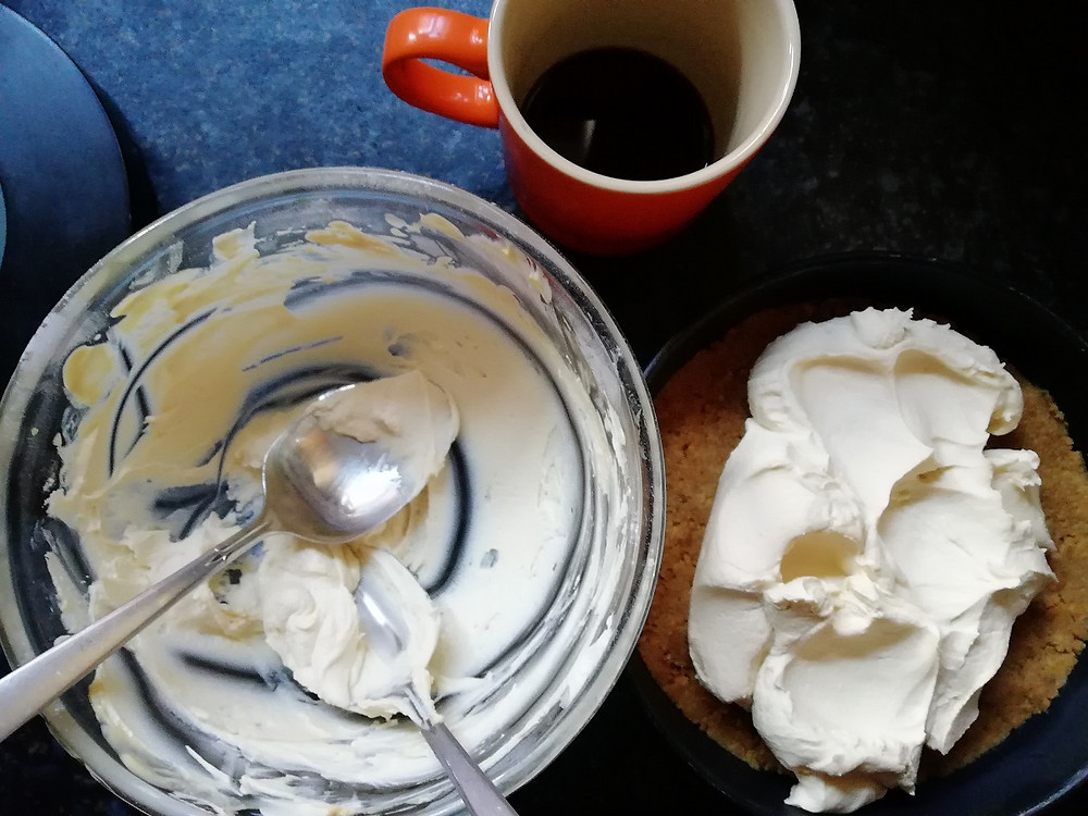 How to make a coffee cheesecake