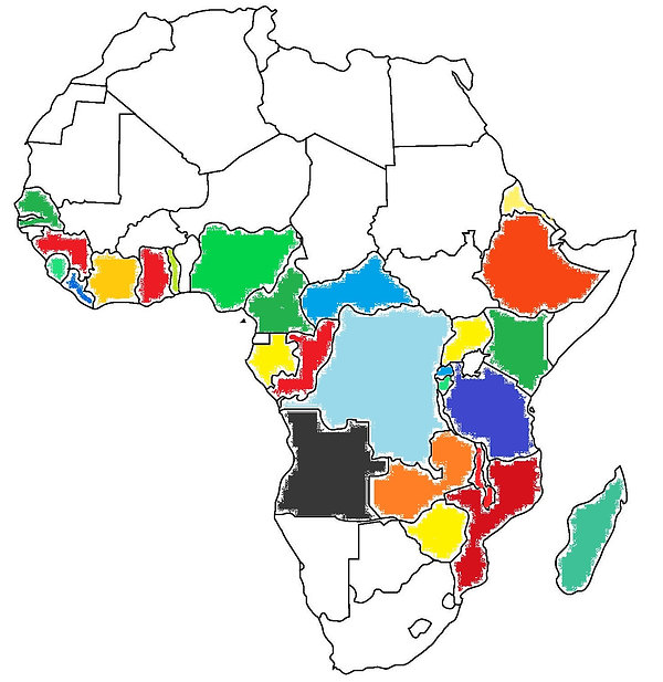 Africa coffee map