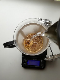 French Press pouring