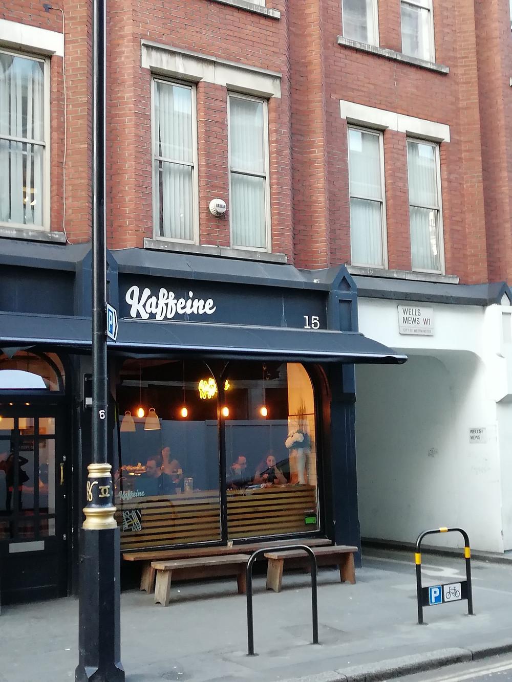 Kaffeine London Coffee cafe