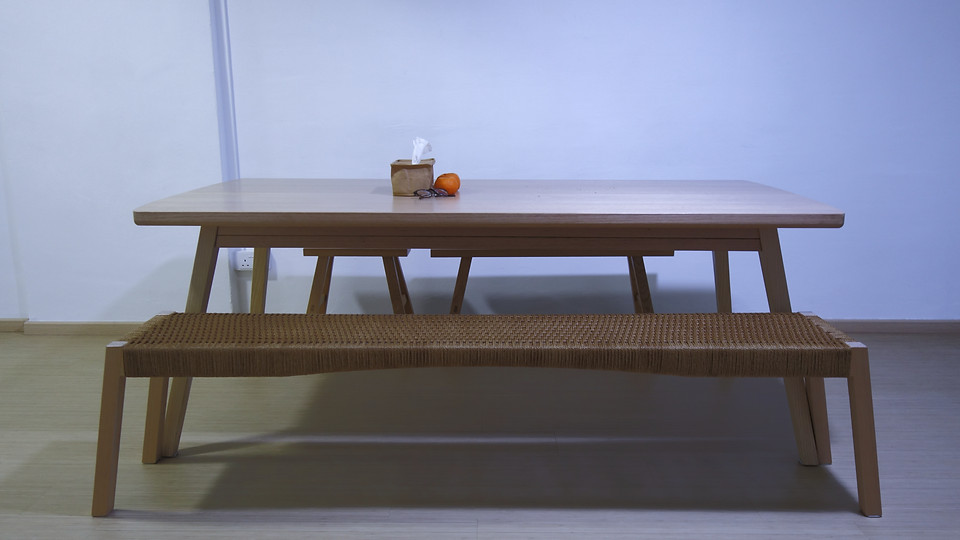 scandi dining table at homes