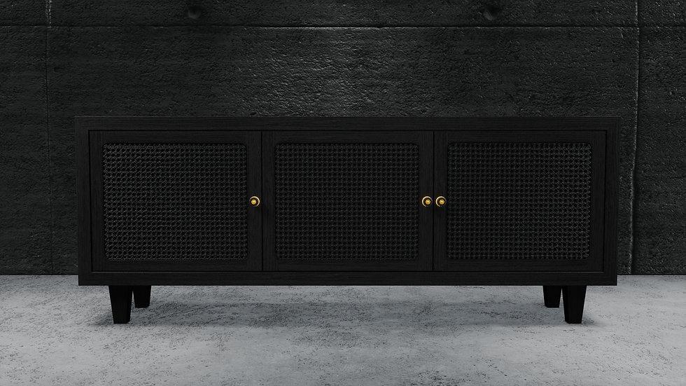 The Rattan Console - Intense Black