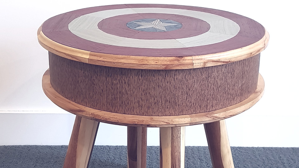 captain america side table (fanart)