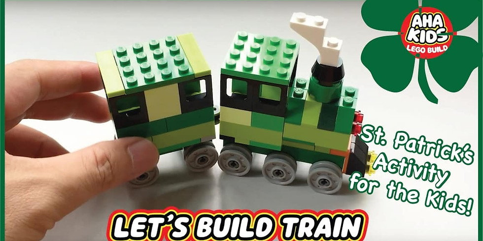 St. Patrick's Day - How to build a lego train workshop