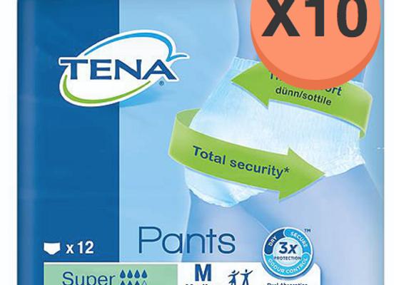 Tena pants super Medium - 10 paquets de 12 protections