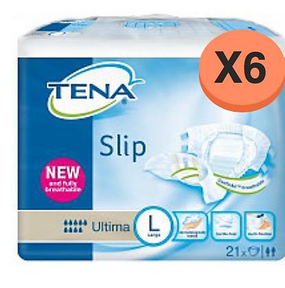 Tena Slip Ultima Large - 6 Paquets de 21 protections
