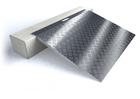 Rampes de seuil en aluminium type 3, longueur 78 cm pour hauteur de 5 à 15 cm