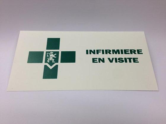 Caducée infirmier(e) en visite plaque