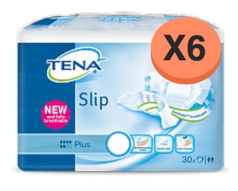 Tena Slip Plus Small - 6 Paquets de 30 protections