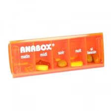 boite à médicaments anabox pour 1 jour 5compartiments