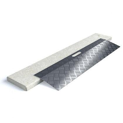 Rampes de seuil en aluminium type 1, longueur 78 cm pour hauteur de 3 à