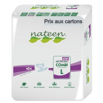 Nateen Ultra Large - 8 paquets de 10 protections