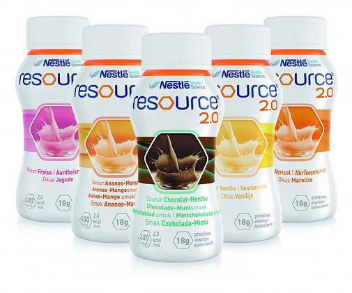 Ressource 2.0 sans fibre 4 x 200 ml