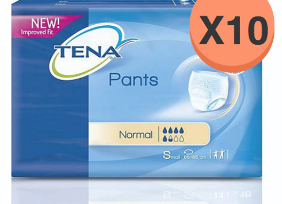 Tena pants normal small - 10 paquets de 15 protections