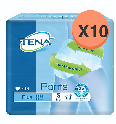 Tena pants plus Small - 10 paquets de 14 protections