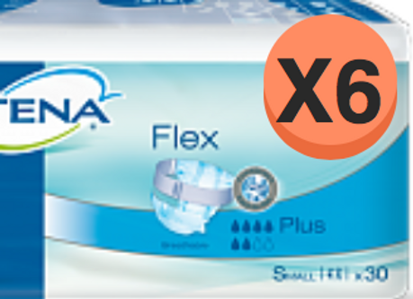 Tena flex plus Small - 6 Paquets de 30 protections