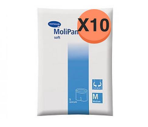 10 Paquets de Hartmann Molicare Fixation Pants Médium
