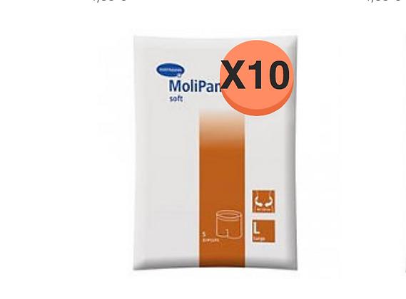 10 Paquets de Hartmann Molicare Fixation Pants Large