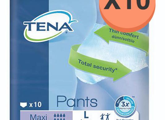 Tena pants Maxi Large - 10 paquets de 10 protections