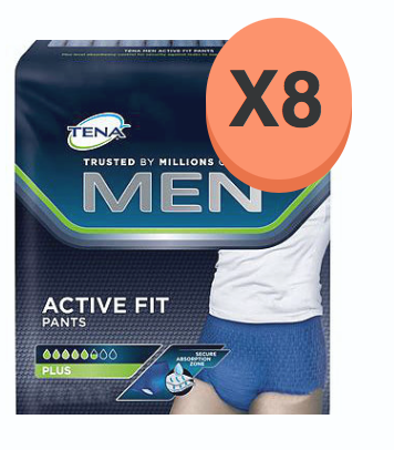 Tena Men ActiveFit Pants Plus Large - 8 paquets de 10 protections